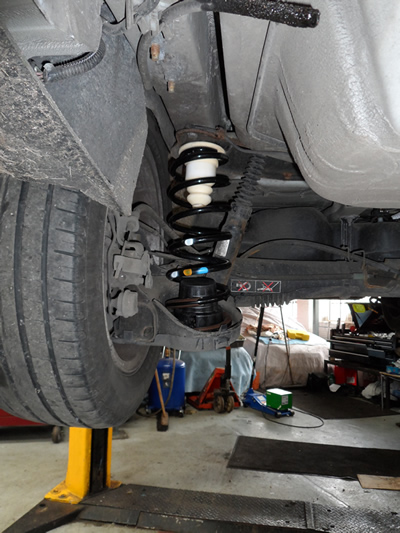Coil Spring Conversion on corvette air bags replacement