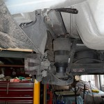 Rear suspension air bag - These rear suspension air bags perish over time preventing the car from rising