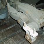 Heavily corroded BX rear subframe