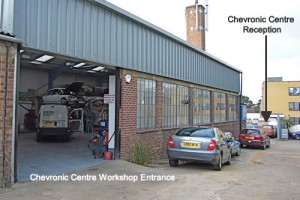 Chevronics Centre Workshop Entrance