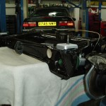 Subframe ready to fit onto car