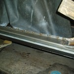 The new sill in place