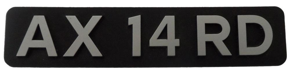 Citroen AX 14 RD Plastic Badge - NEW