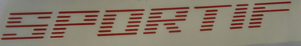 Citroen AX Sportif Red Graphic - Sticker